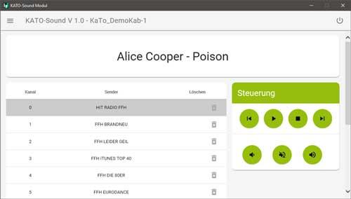 Kato-Sound APP-like User Interface